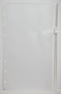 Klarsicht Hülle Tasche transparent mit Zip Reißverschluss  Personal für Filofax