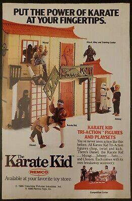 Vintage Original 1986 Comic Book Print Ad Remco Toys Karate Kid Action Figures