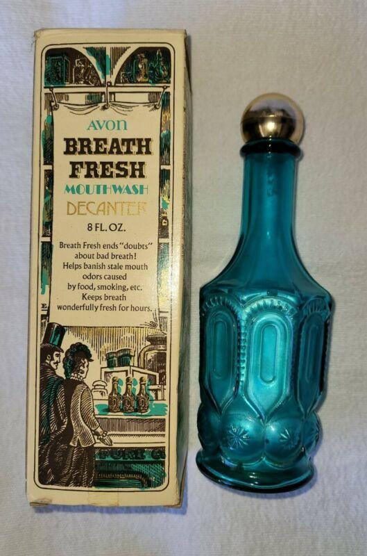 Vintage Avon Apothecary Breath Fresh Mouthwash Decanter