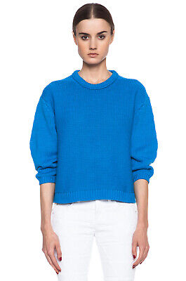 Acne Studios Shelby PSS14 Cotton Knit Sweater / Size XS / Blue