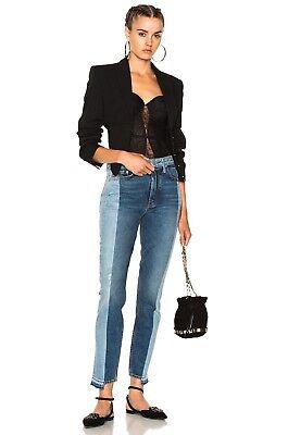 - NEW GRLFRND For FWRD Karolina High-Rise Skinny Jerry Hall Two Tone Jeans 30x29