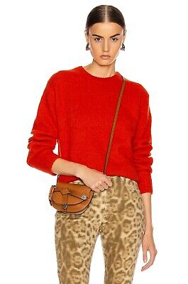 Acne Studios Kiany Sweater, Poppy Red, Size Small, Wool & Cashmere