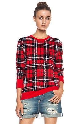 NWT EQUIPMENT 'Shane' Plaid Print Wool Sweater, Strawberry Red Multi, Small