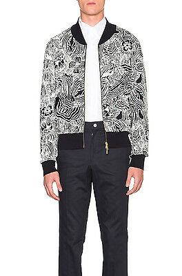 NWOT $1290 Thom Browne radical stitch knit bomber jacket zip cardigan Size 2 M