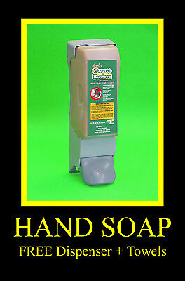 Walnut Shell Scrubber Grit Hand Cleaner 3.5L FREE Dispenser & Towels, 4 Soap (Grit Hand Cleaner)