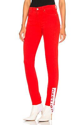NWT GRLFRND Denim The Belluci Red Logo Stirrup High Waisted Skinny Jeans 27 $248