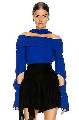NWOT $1,130.00 Hellessy Off The Shoulder Cut Out Long Sleeve Top Sz.0
