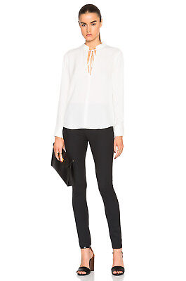 A.L.C  Women's Danielle Top in White Silk 2
