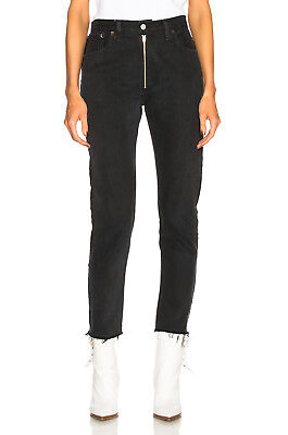RE/DONE x LEVI'S High Rise Zip Front Ankle in black 25 - sold out