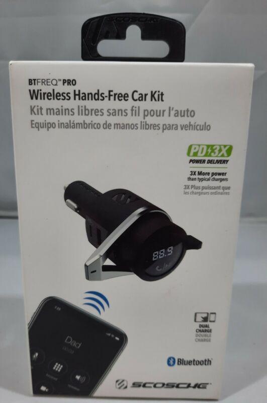 SCOSCHE Wireless Hands-Free Car Kit-Black BTFREQ Pro Bluetooth FM Transmitter