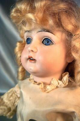 Beautiful Early Kestner 146 Antique Doll Original Mohair Wig & Excelsior Body !!