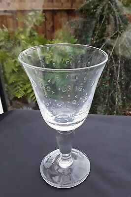 VINTAGE CRYSTAL ART GLASS LARGE GOBLET CONTROLLED BUBBLE SINGLETON RARE WINE GIN