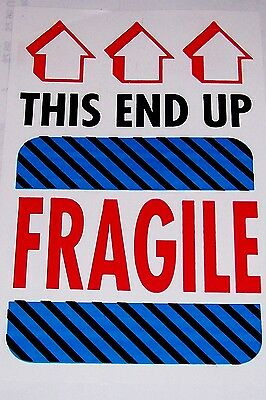 250 4x6 Fragile Glass Handle With Care This End Up Label Sticker