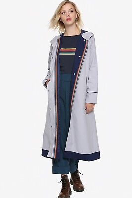 Hot Topic Her Universe 13th Thirteenth DOCTOR WHO Jacket Coat L USA Tardis Lined