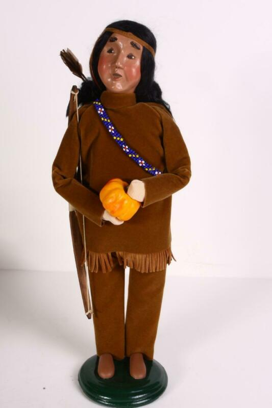 Byers Choice Carolers Thanksgiving Native American Man Bow and Arrow Fall VGC