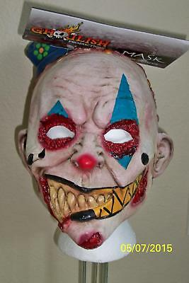 CHILD CREEPY DEMENTED CLOWN MIMEZACK LATEX MASK HALLOWEEN SCARY COSTUME TB25410 - Demented Clown Costume