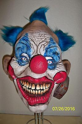 ADULT DAMMY THE CLOWN EVIL LOOKING SCARY LATEX FULL MASK COSTUME TB26448 (Scary Halloween Looks)