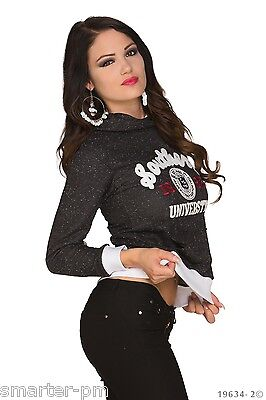 Sexy WoW Kapuzenpullover Pullover Pulli Hoodie  Kapuze College 34-38 Blogger