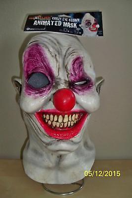 Digital Dudz Verrückt Auge Gruselig Gruseliger Clown Maske Kostüm TB10313 ()