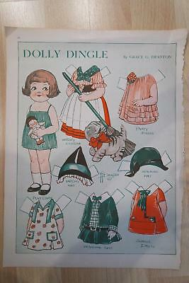 Halloween Review (DOLLIE DINGLE HALLOWEEN PAPER DOLL PICTORIAL REVIEW NOVEMBER 1930 GRACE)