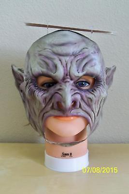 Erwachsene Vampir mit Reißzähne Chinless Voll Latex Maske Kostüm TB27522