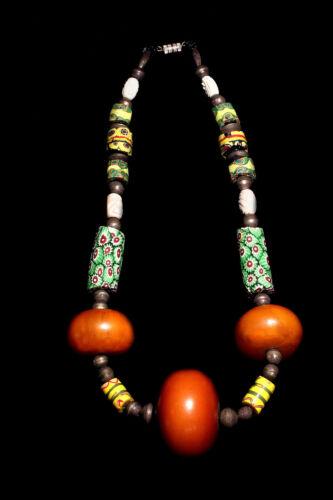 19th Century African Venetian Glass Trade Bead Necklace circa 1890