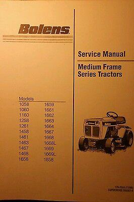 Bolens Medium Frame Series Lawn Garden Tractor Major Repair Service Manual 106pg