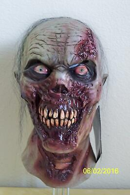 ADULT FURIOUS WALKER ANGRY ZOMBIE GORY SCARY FULL LATEX MASK COSTUME TB26549](Scary Gory Halloween Masks)