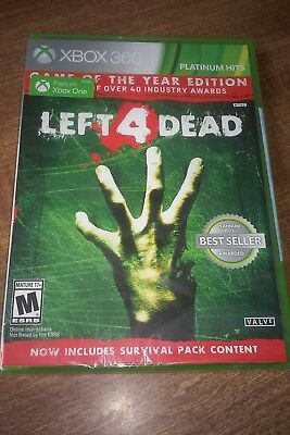Left 4 Dead Game of the Year Edition Xbox 360 Factory Sealed 12 Copies Available