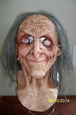 ADULT HAGATHA OLD SCARY EYES WITCH LATEX FULL MASK WITH HAIR COSTUME TB26458](Old Scary Costumes)