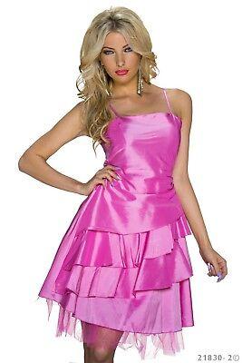Peplum Kleid (Damen Mini Kleid Volant Party Cocktail Peplum Ballkleid Träger Satin Schleifen)