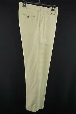 Men Polo Ralph Lauren Beige Linen Silk Golf Pants Size 33 X 30 Relax Beach Chill