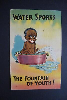 """*951) Old Vintage Standard Size 1945 Linen Postcard, """"The Fountain Of Youth"""""""