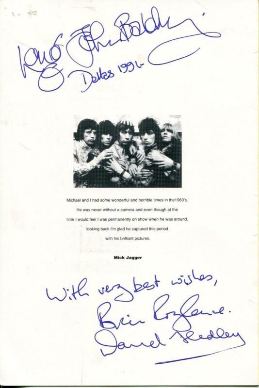 Long John Baldry Autograph Signed 1991 program Brian Roylance David Hedley