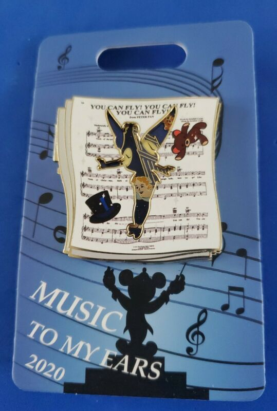2020 Disney cast exclusive pin Peter Pan Music To My Ears LE 800