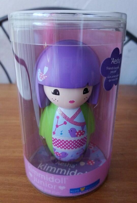 "2012 Kimmidoll Junior Aesha Doll 3.5"" Tall Collectible Resin Kokeshi NIB"