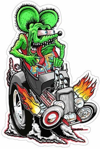 Rat Fink riding Hot Rod, Big Daddy Ed Roth Metal Sign