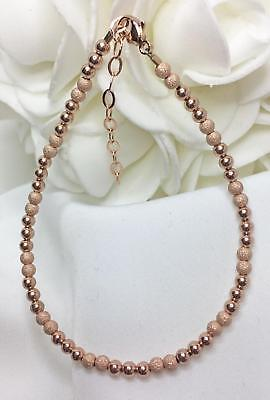 """Rose Gold Stardust Bracelet Stackable Extendable 7 to 8-1/2"""" (2999)"""
