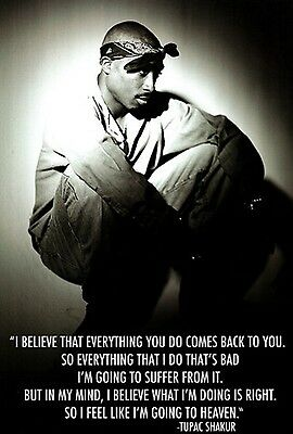 2PAC TUPAC QUOTE BELIEVE POSTER NEW  !