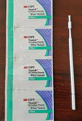 4-pack 3M ESPE Vanish 5% Sodium Fluoride White Varnish Dental Mint Flavor