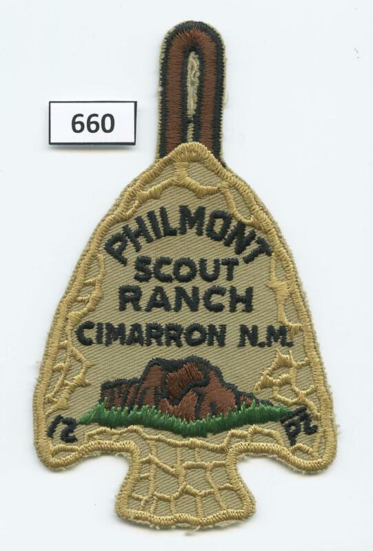 DEALER DAVE Boy Scout PHILMONT PARTICIPANT AROWHEAD PATCH, PRISTINE (660)