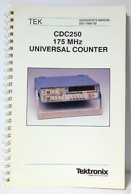 Tek Tektronix Cdc250 175mhz Universal Counter Operators Manual Priority Ship