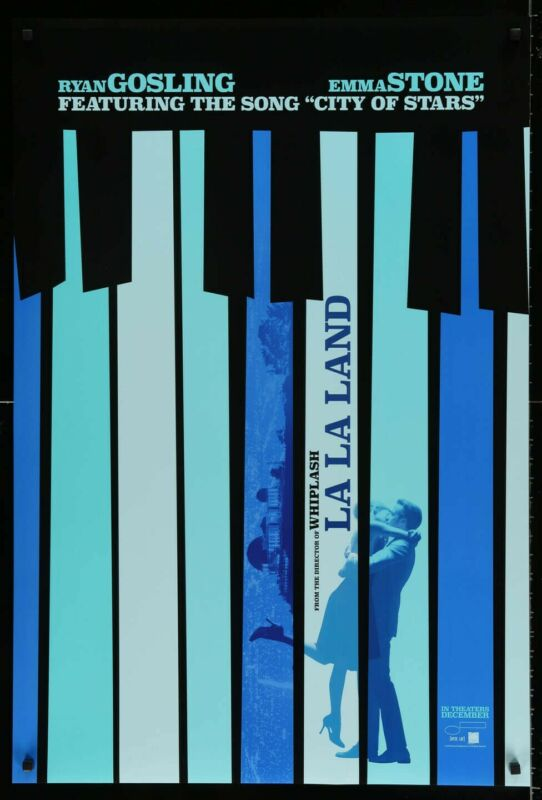 La La Land original DS one-sheet rolled Movie Poster - Piano Keys.