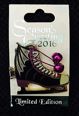 Disney Sleeping Beauty Seasons Greetings Maleficent Ice Skate Pin LE6000