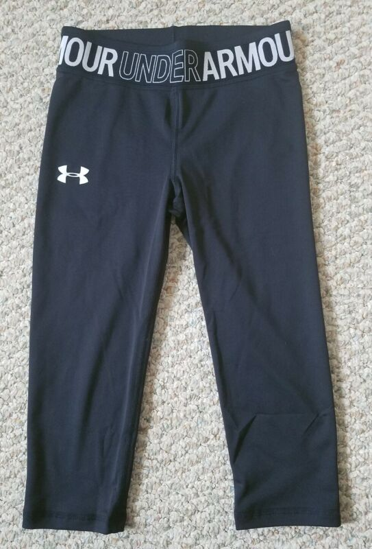 Under Armour Heat Gear Youth Girls Black Capri Pants Youth Size XL