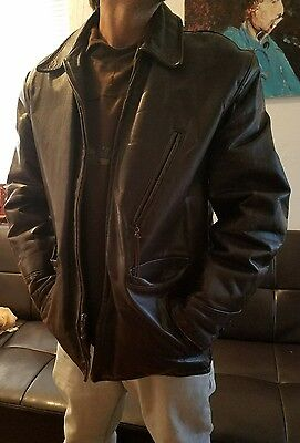 True Vintage  1950's Windward Steerhide Motorcycle Biker Brown Leather Jacket L