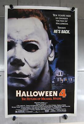 Vintage Halloween 4 Rückkehr der Michael Myers Filmposter 1988 68.6cm x 104cm