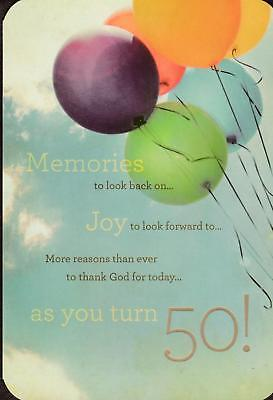 Christian Birthday Greeting Card, AS YOU TURN 50](Christian Birthday)