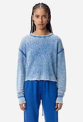 John Elliott Womens Snyder Cropped Crew Sweatshirt Sz1 Small *NWT*