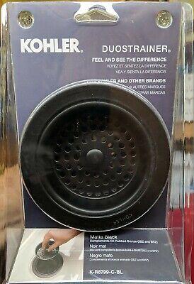 KOHLER DUOSTRAINER SINK STRAINER MATTE BLACK - K-R8799-C-BL - New!!!